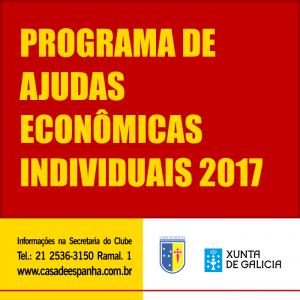 Programa de ajudas econômicas individuais 2017